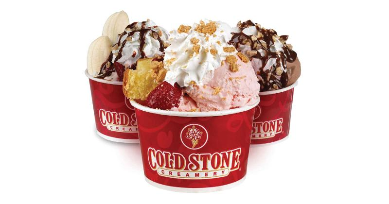 Cold stone creamy sundaes