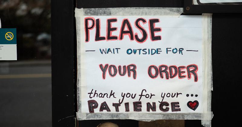 Please wait outside