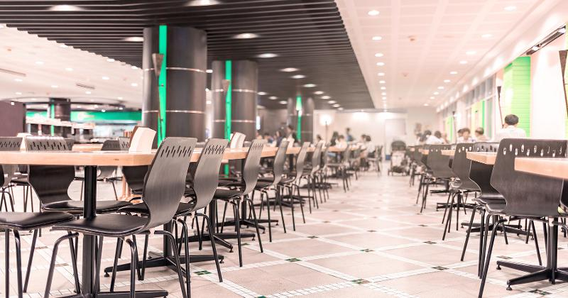 empty food hall