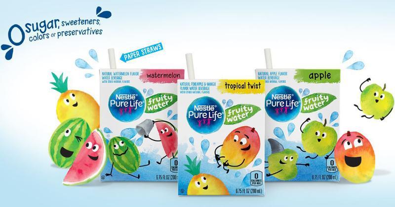 Nestle Fruity Water Flavors