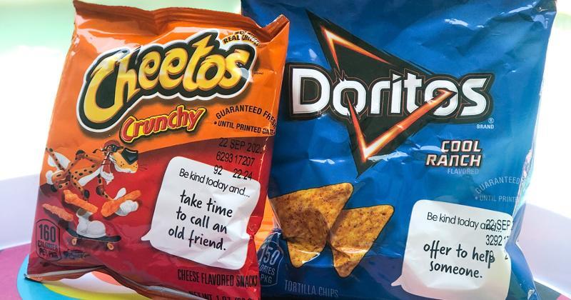 bags of cheetos and doritos