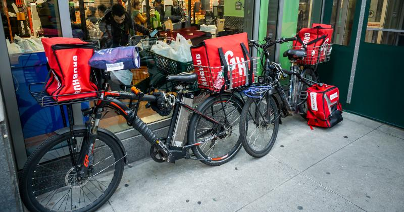 grubhub delivery bikes
