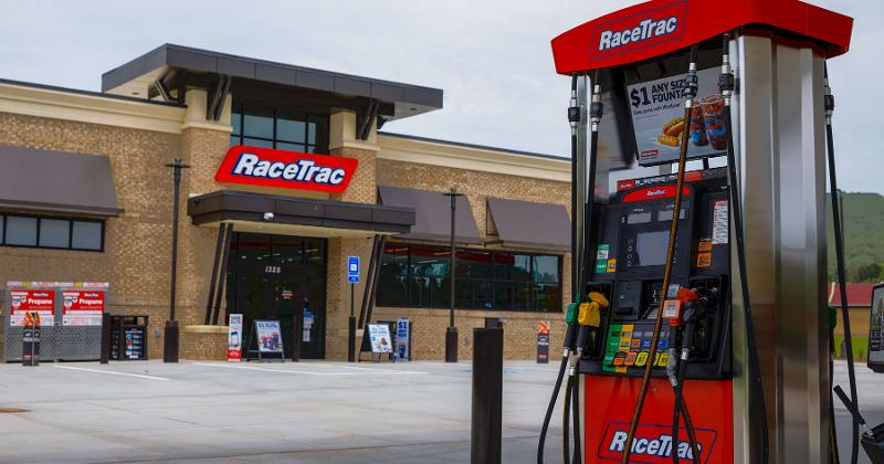 RaceTrac gas station and pump