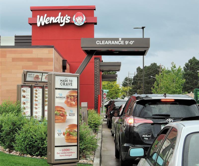 Wendy's drive thru business