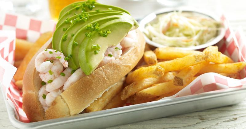 Bay Shrimp and Avocado Roll