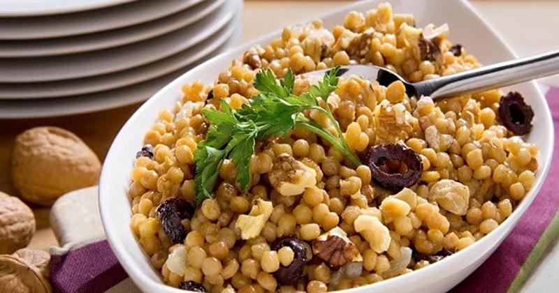Israeli Couscous with Cured Black Olives