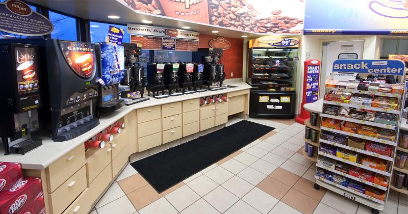 Coffee dispensers at c-store