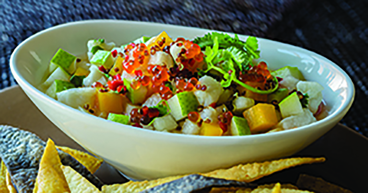Cod Ceviche with Pickled Pears