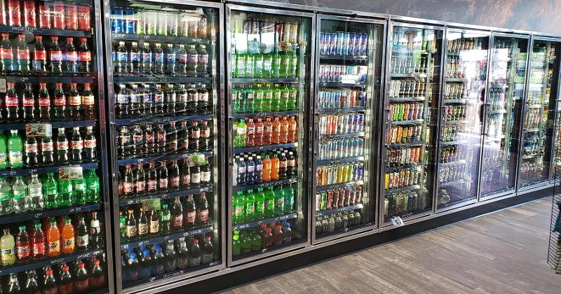 fridges filled with drinks