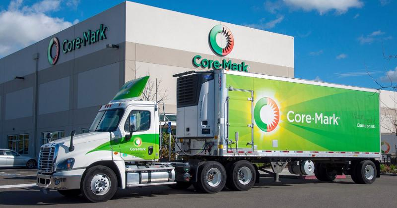Core-Mark building and truck