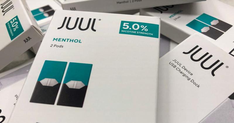 boxes of juul products
