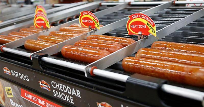 roller grilled sausages