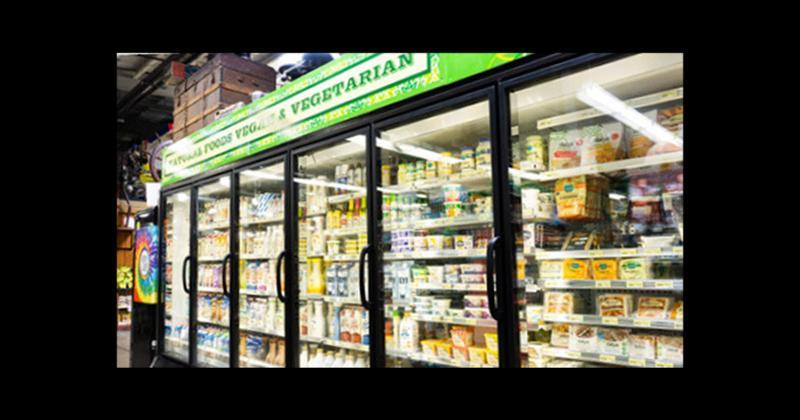 Vegetarian display case