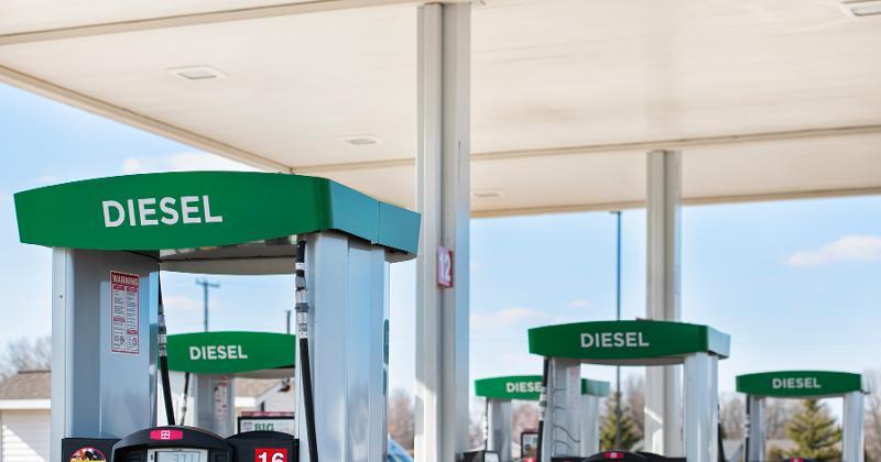 Diesel gas pumps