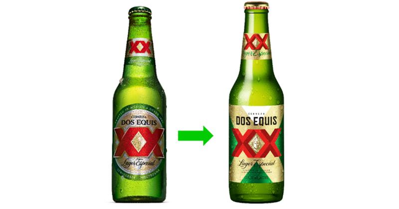 Dos Equis bottle design