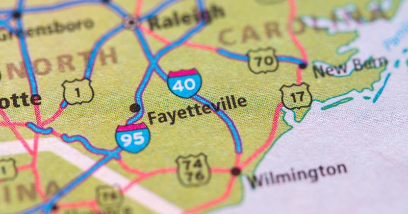 Fayetteville, N.C., map