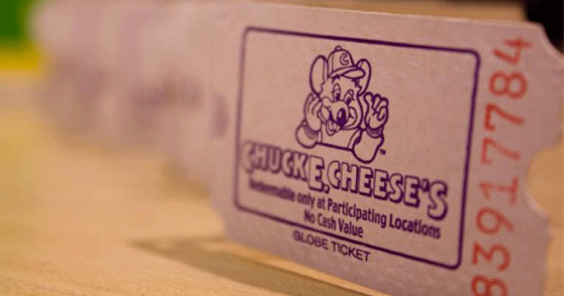 Chuck E. Cheese tickets