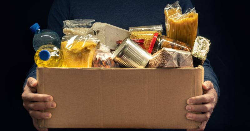 box of donations