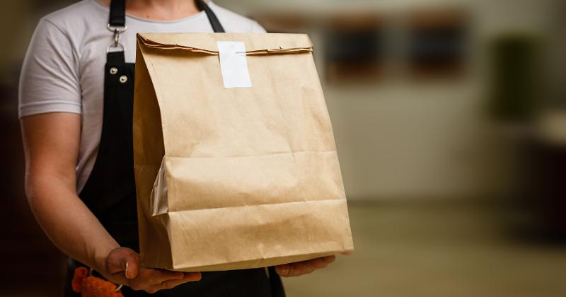 Delivery in a paper bag