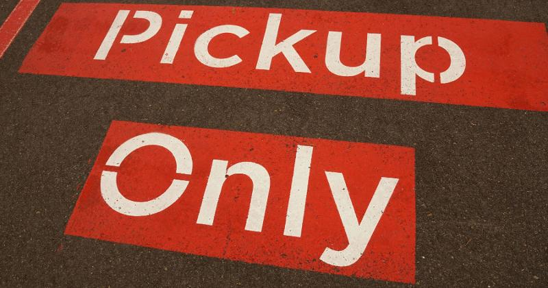 pickup only sign