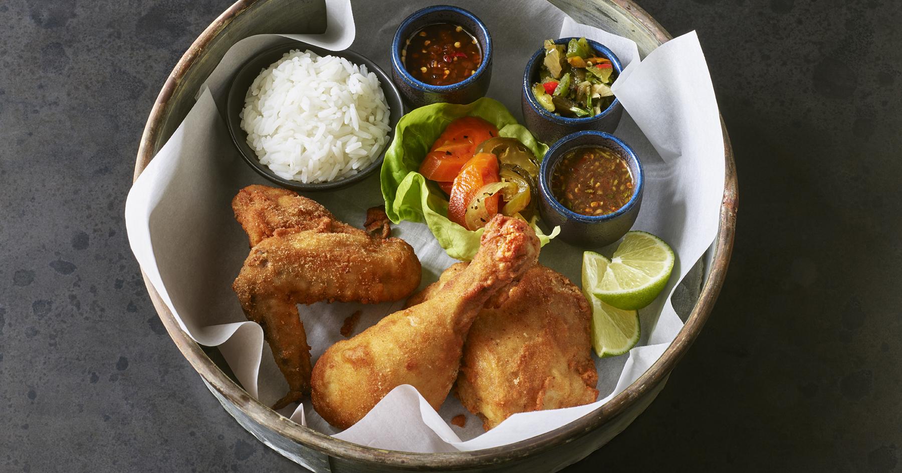 Fried chicken Thai-style