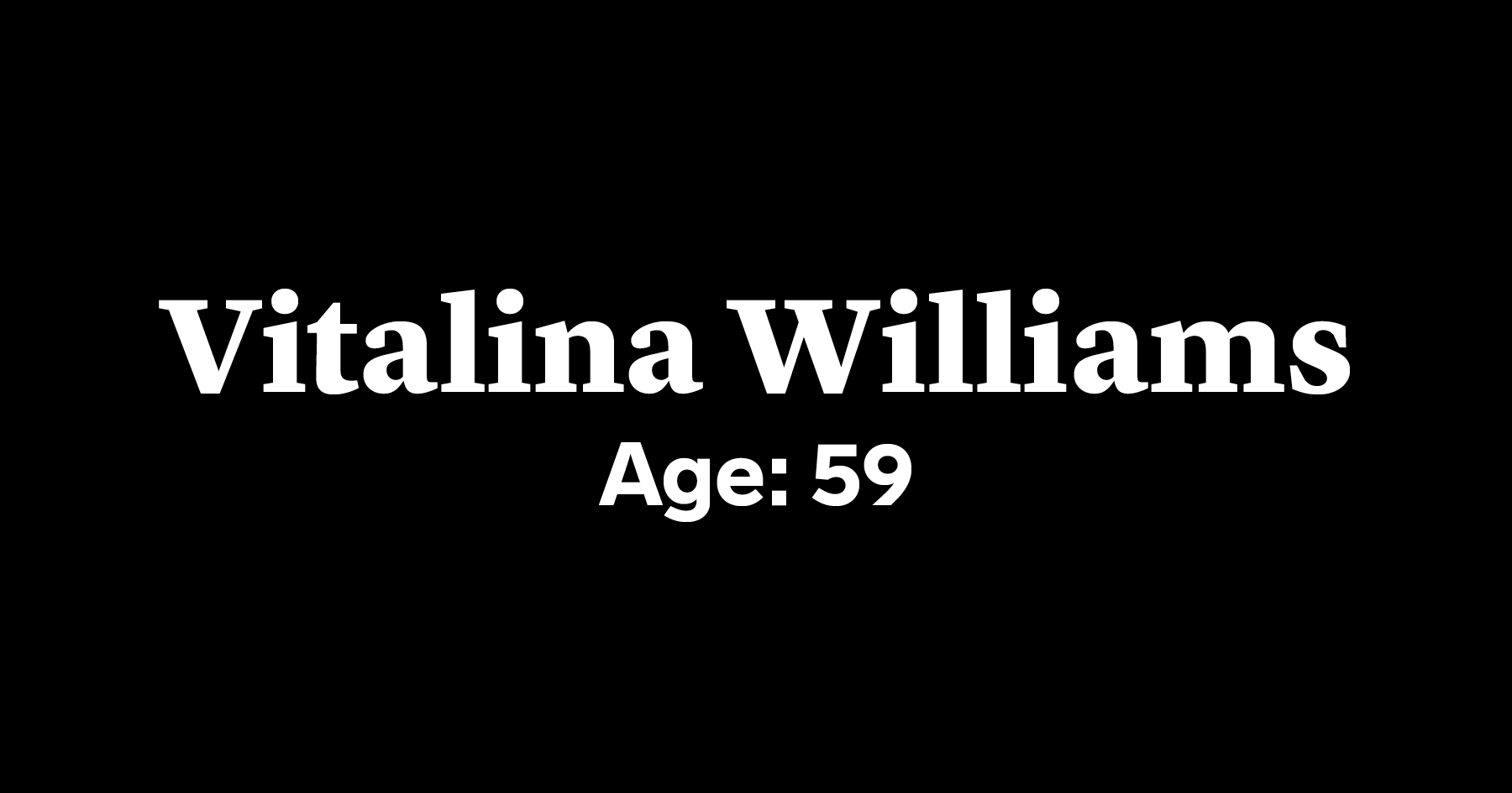 Vitalina Williams