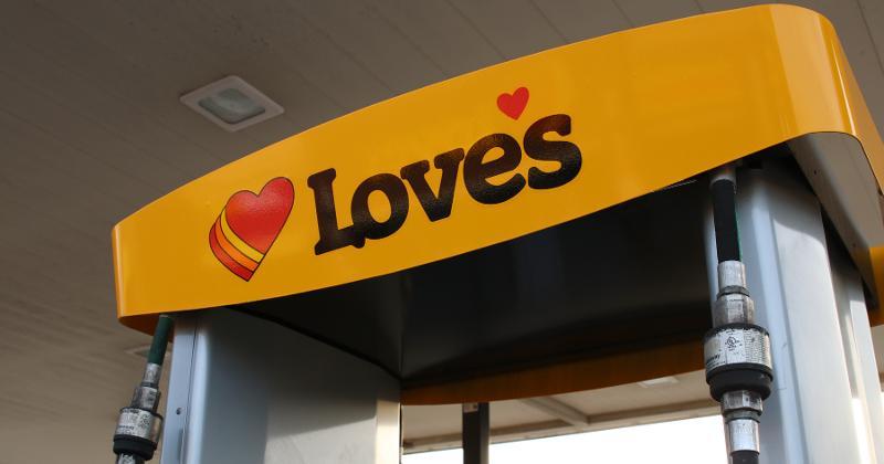 Love's gas pump