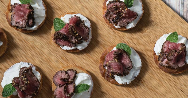 Za'atar-Spiced Lamb & Labneh Pizzettes