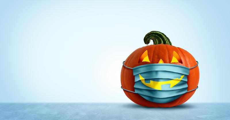 Face mask pumpkin