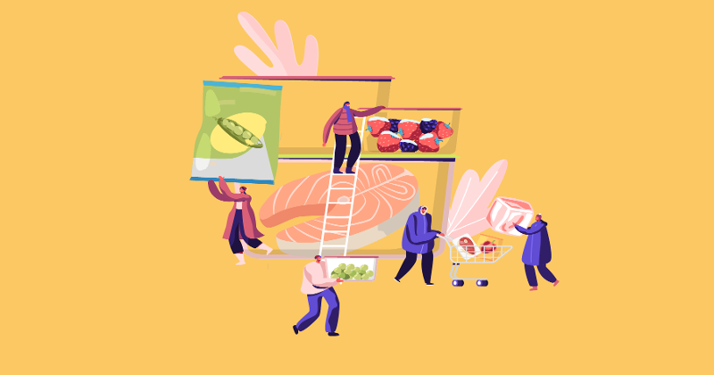 Frozen food illustration