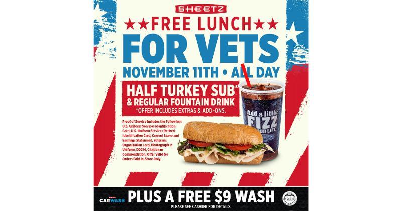 Sheetz Veterans Day specials