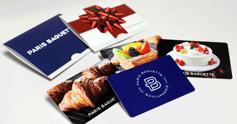 Paris Baguette gift card