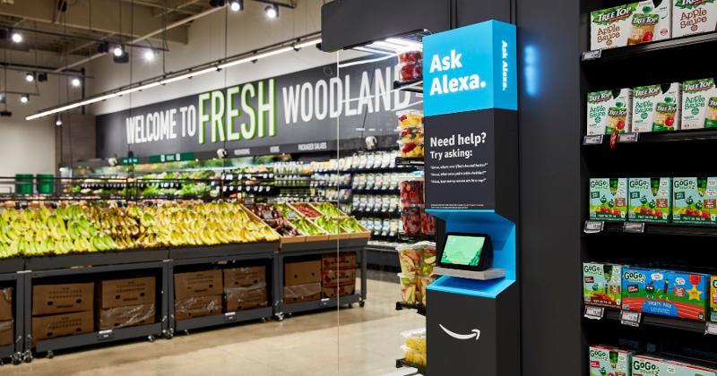 amazon fresh kiosk