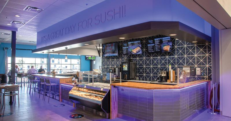 Walmart's Sleek Sushi Bar Makes a Splash