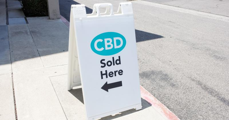 CBD Sold Here sign