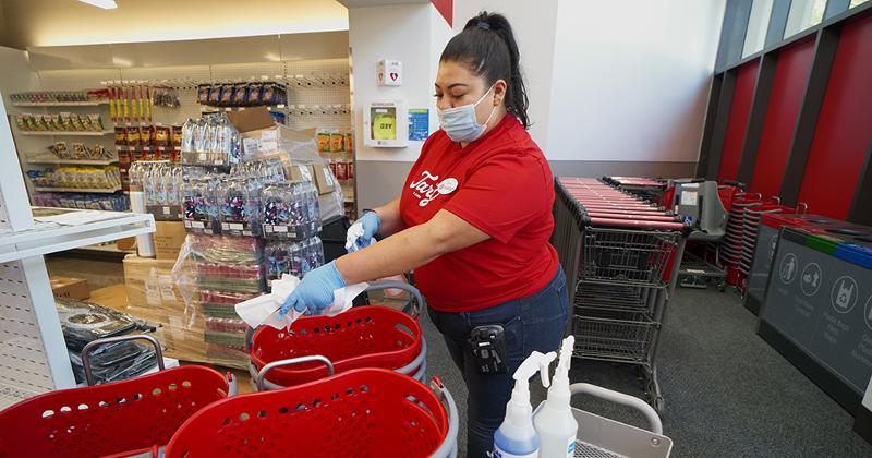 Target basket sanitization