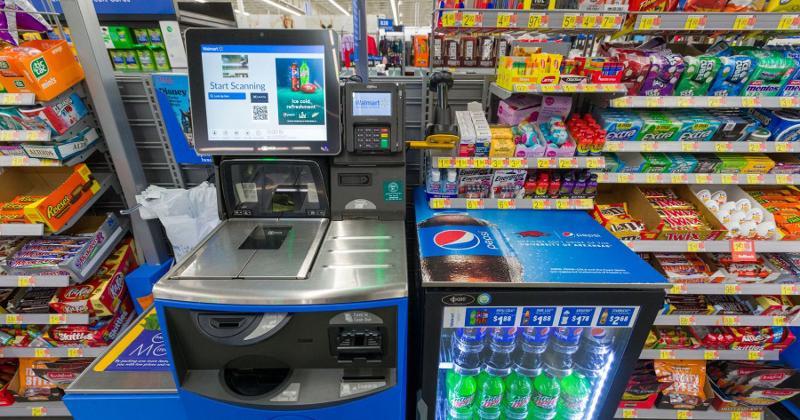 Walmart self checkout screen