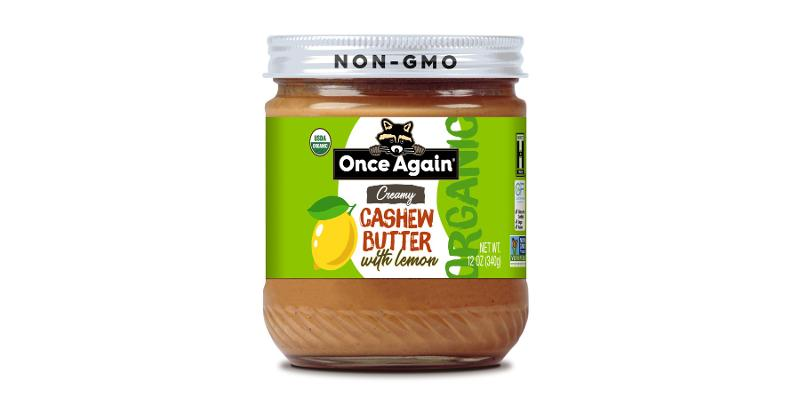 Once Again Creamy Cashew Butter With Lemon