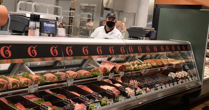 Uncle Giuseppe's Marketplace meat case