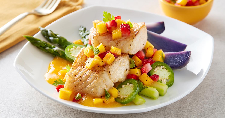 pan-seared cod