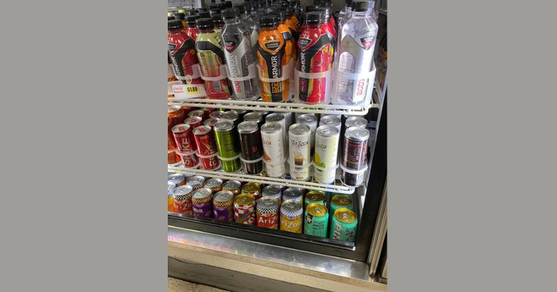 Koios beverages at a c-store