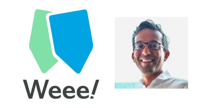 Weee logo; Ankur Shah headshot