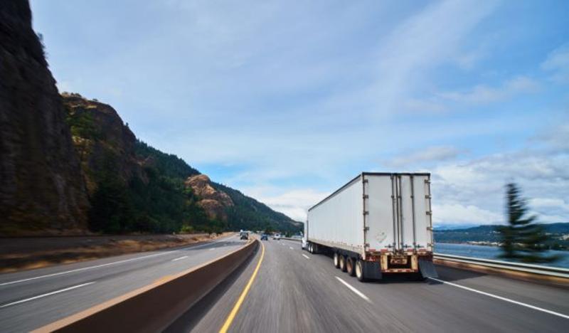 CBA truck on highway