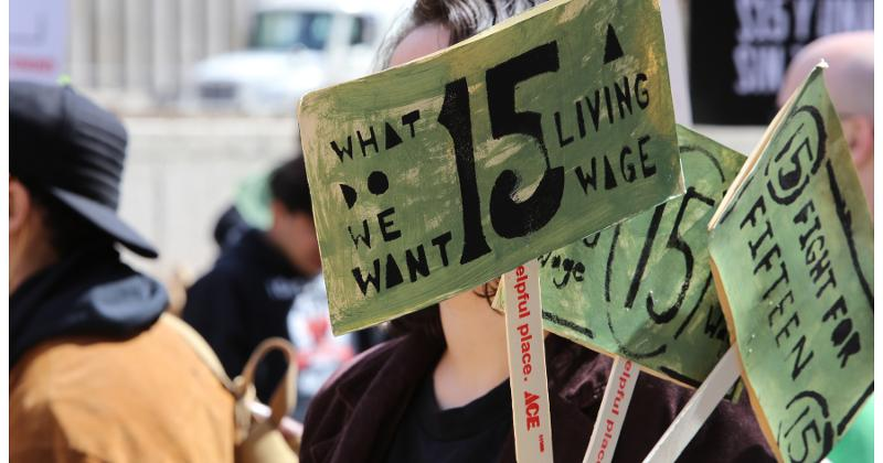 protest for minimum wage raises