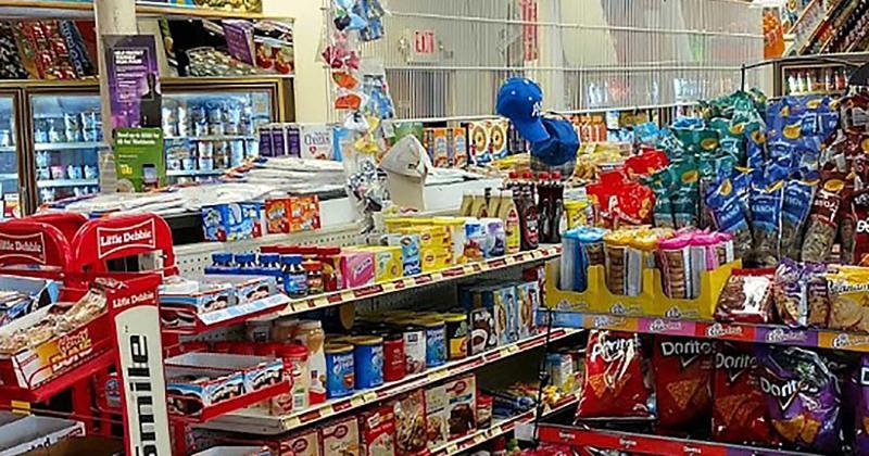 convenience store interior