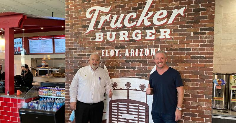 Trucker Burger sign