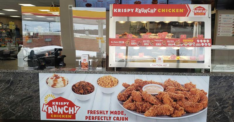 Krispy Krunchy chicken counter