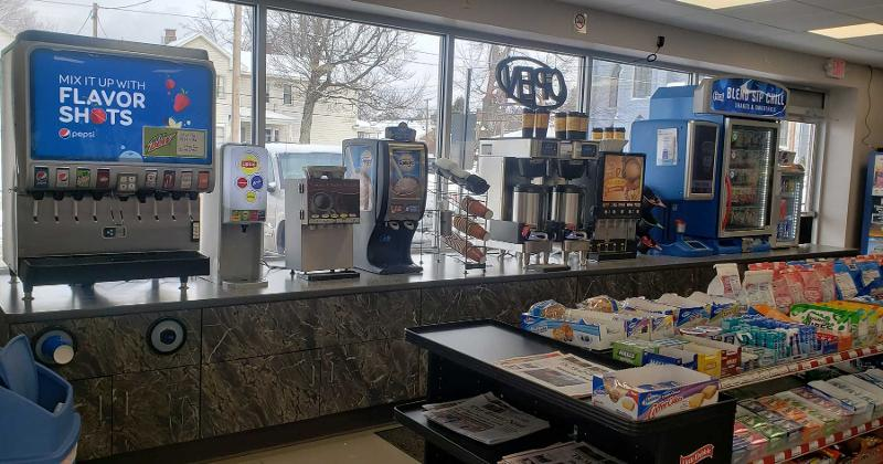 snacks and beverage dispensers