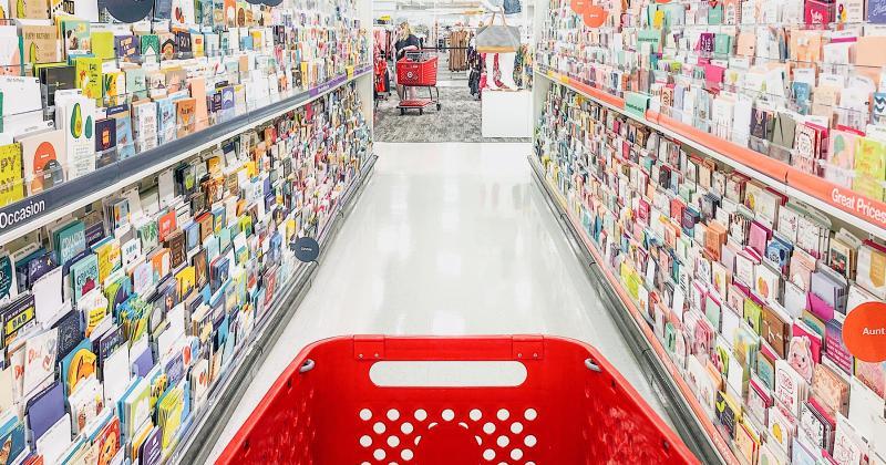 Target greeting card aisle
