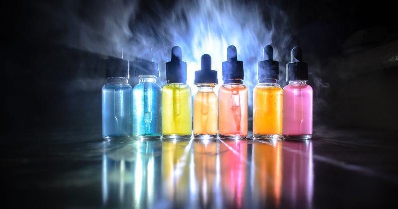 colorful e-liquids